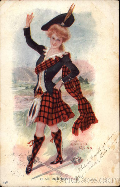 Girl Wears Costume for Clan Rob Roy Archie Gunn