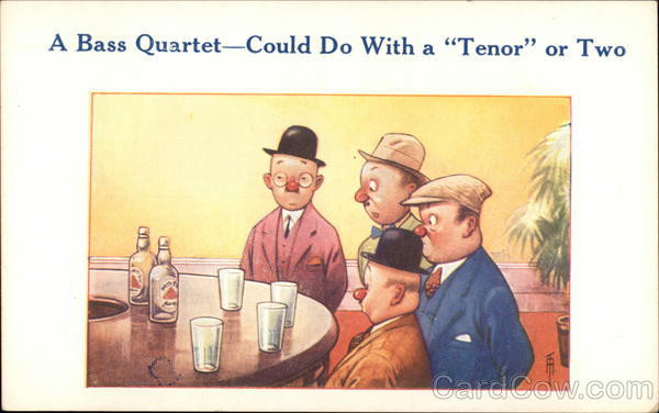 A Bass Quartet - Could do With a Tenor or Two Drinking