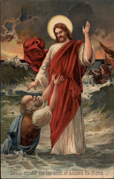 Jesus Walking on Water and St. Peter Religious