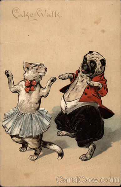 Cake-Walk - Cat and Dog Dancing Dogs