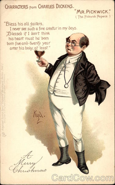 Characters from Charles Dickens - Mr. Pickwick Kyd