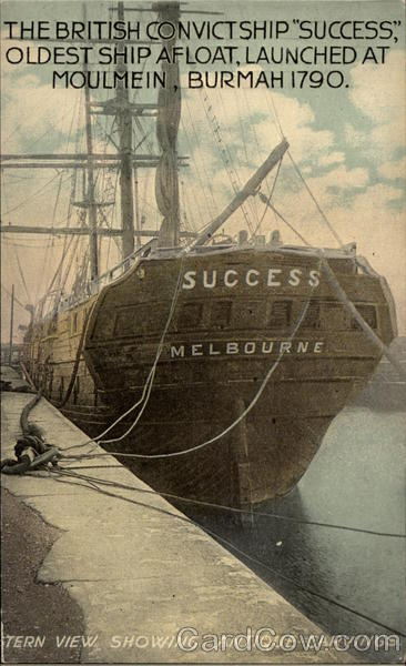 The British Convict Ship Success Boats, Ships Prisons