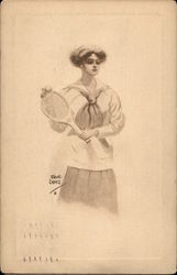 Woman in Tennis Garb