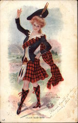 Girl Wears Costume for Clan Rob Roy