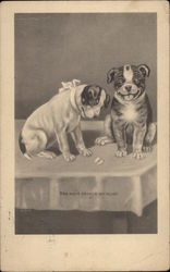 Two Dogs on a Table With Torn Heart