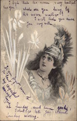 A Beautiful Woman in Armor Postcard