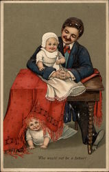Man with Two Babies