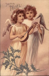 Two Angels Playing/Singing Music