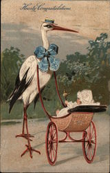Stork with Baby Carriage