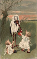 Babies with Stork