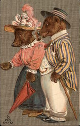 Brown Bear Couple in Clothing
