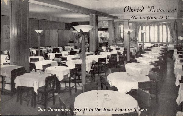 Olmsted Restaurant Washington District of Columbia
