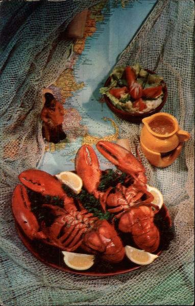 A Real Lobster Dinner on Cape Cod Massachusetts