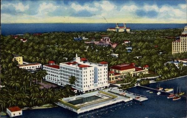 Aerial View of Hotel Mayflower Palm Beach Florida