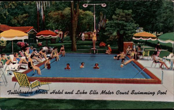 Tallahassee Motor Hotel and Lake Ella Motor Court Swimming Pool Florida