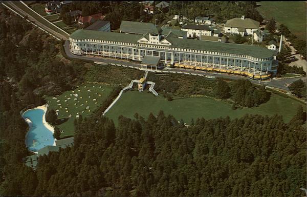 Grand Hotel - Aerial View Mackinac Island Michigan