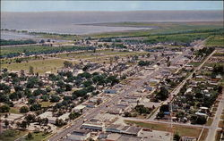 "Air View of Clewiston - ""America's Sweetest Town"" Postcard"