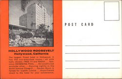 Hollywood Roosevelt Postcard