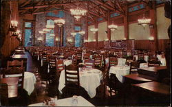 Dining room of the Ahwahnee Hotel