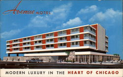 Avenue Motel Postcard