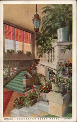 Entrance, Edgewater Beach Hotel Postcard