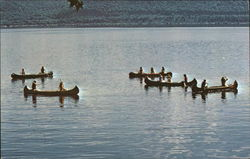 Canoers on Beautiful Lake Pepin - Camp Villa Maria