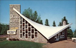 Olsen's Motel & Gift Shop Postcard