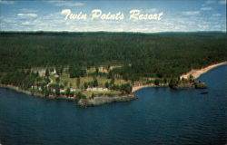 Twin Points Resort & Motel Postcard