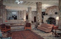 Lobby and Fireplace at ASsembly Inn