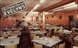 The Original Dave and Evelyn's Sea Food Restaurant Postcard