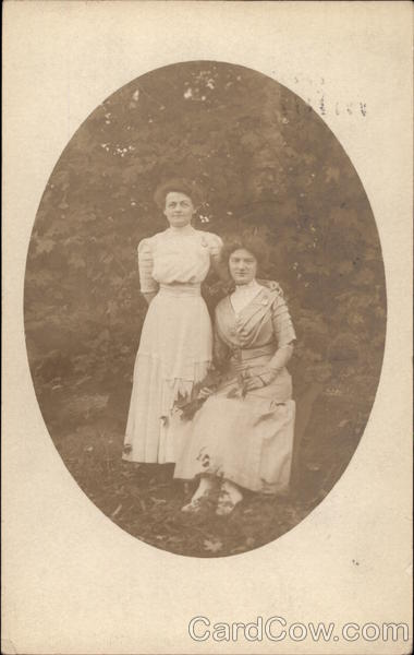 Two Women Posing for Picture Utica New York