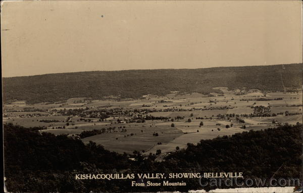 View of Kishacoquillas Valley from Stone Mountain Belleville Pennsylvania