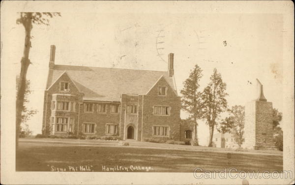 Sigma Phi Hall, Hamilton College Clinton New York