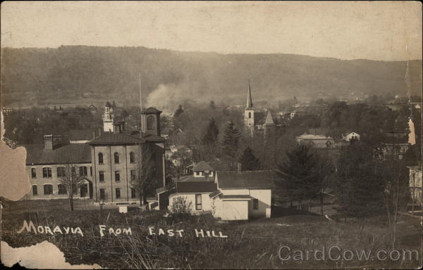 View of Town from East Hill Moravia New York