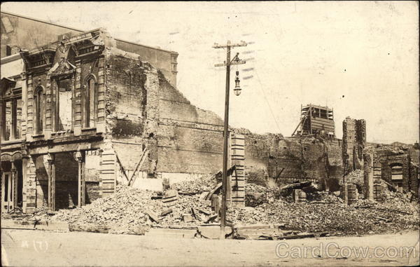 1915 Hurricane Destroyed Buildings 23rd and Strand Galveston Texas