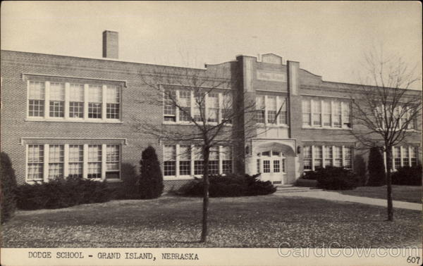View of Dodge School Building Grand Island Nebraska