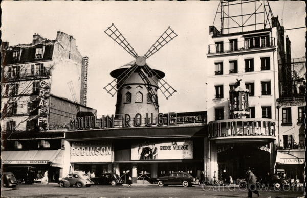 View of The Moulin Rouge Paris France