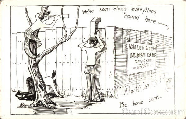Valley View Nudist Camp Comic, Funny