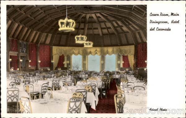 Hotel del Coronado - Crown Room , Main Dining Room California