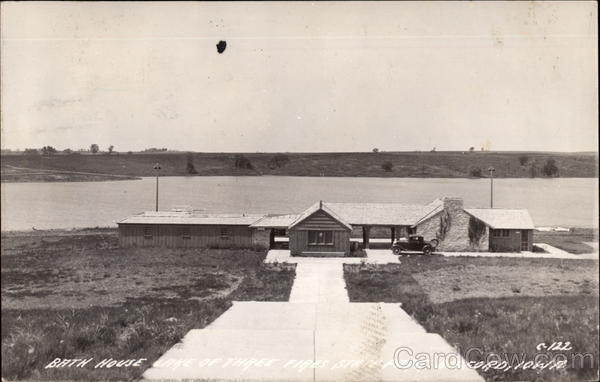 Bath House at Lake of Three Fires State Park Bedford Iowa