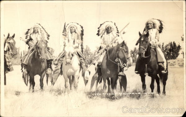 Indians & Horses of Montana Native Americana