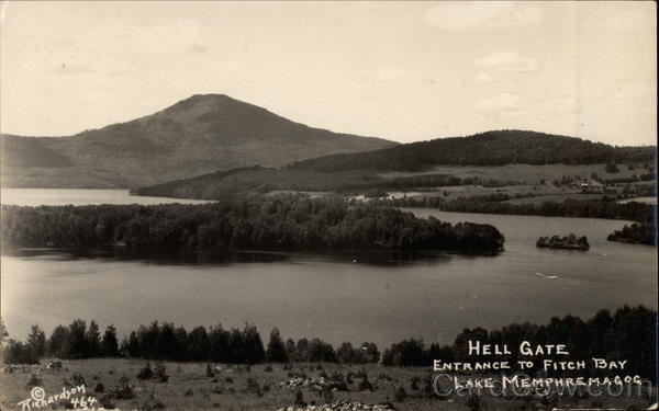 Hell Gate, Entrance to Fitch Bay Lake Memphremagog Canada