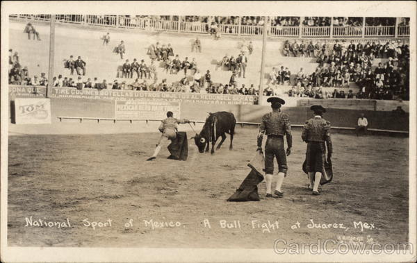 National Sport of Mexico - A Bull Fight Juarez