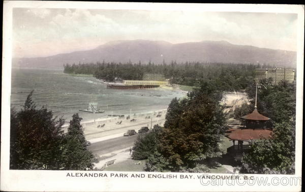 Alexandra Park and English Bay Vancouver Canada British Columbia