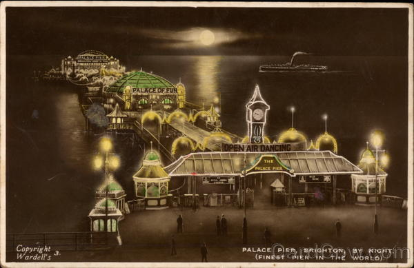 Palace Pier by Night Brighton England Sussex