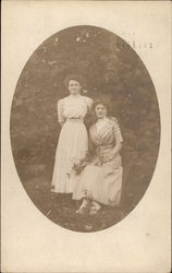 Two Women Posing for Picture