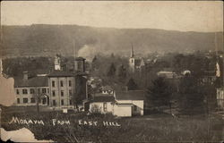 View of Town from East Hill Postcard