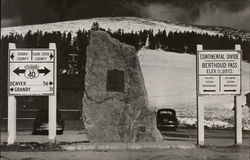 Monument Marking Continental Divide Berthoud Pass