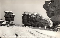 Balanced and Steamboat Rocks in Winter