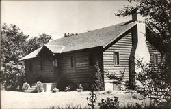 Girl Scout Cabin Postcard